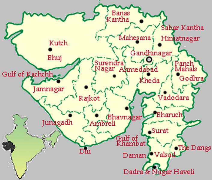 gujraat map